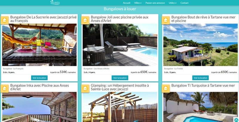 location bungalow saint joseph martinique
